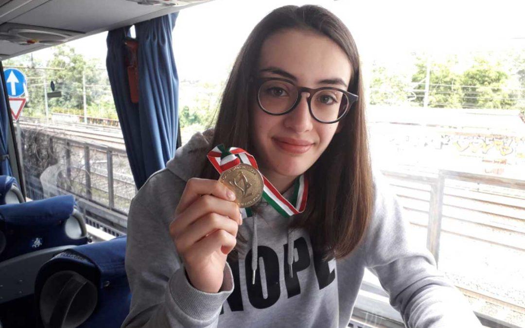 Finali regionali  nuoto, requisizione  medaglie per concludere a lui studenti viterbesi